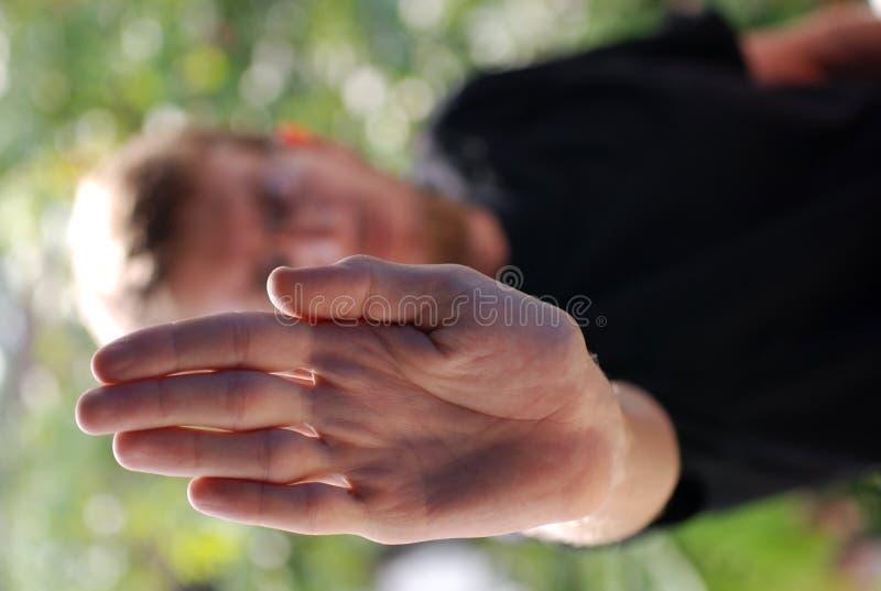 La main indique l'arrêt photographie stock