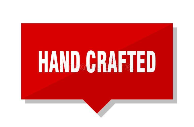 La main a ouvré l'étiquette rouge illustration libre de droits