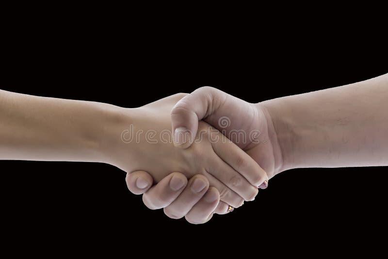 La main serre la main dans la salutation photo stock
