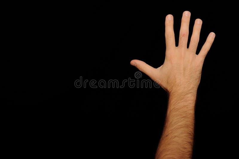 la main a tendu image stock