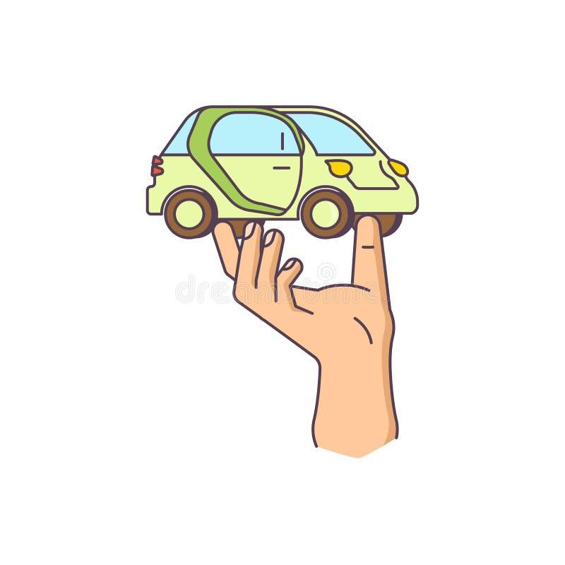La main tient la voiture illustration libre de droits