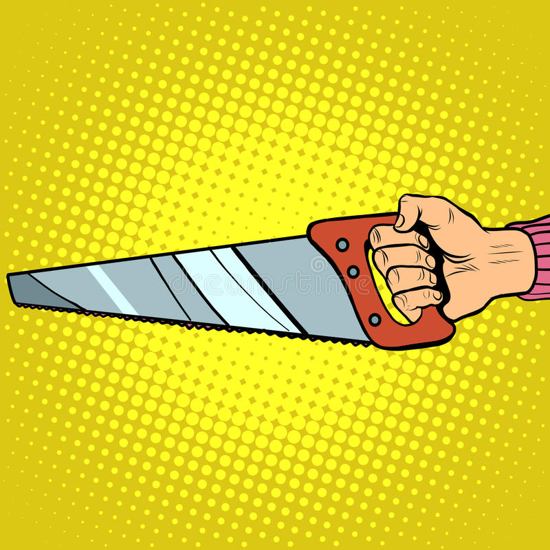 La main a vu l'outil de vecteur illustration libre de droits