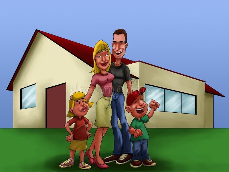 La maison illustration de vecteur