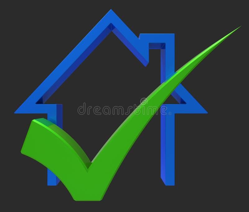 La maison avec le contrôle montre la Chambre à vendre ou le prêt illustration stock