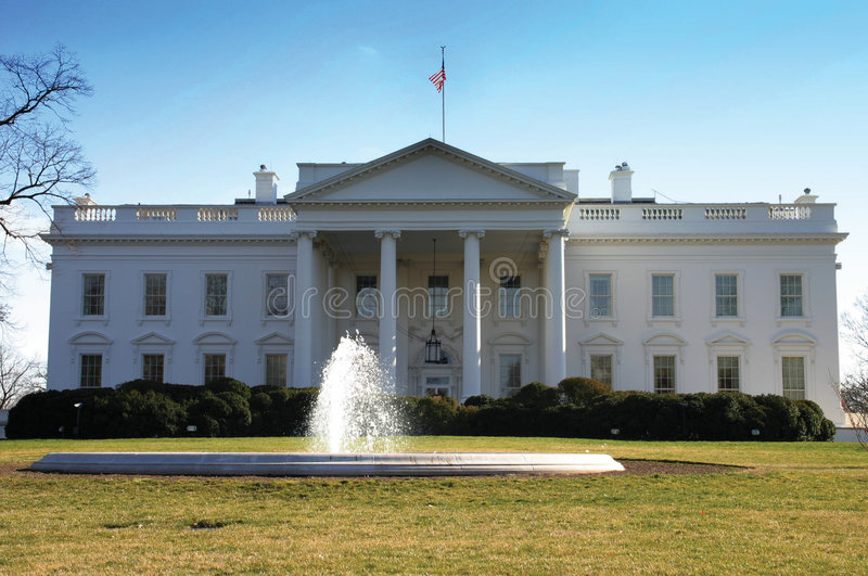 La Maison Blanche, avant, Washington photographie stock