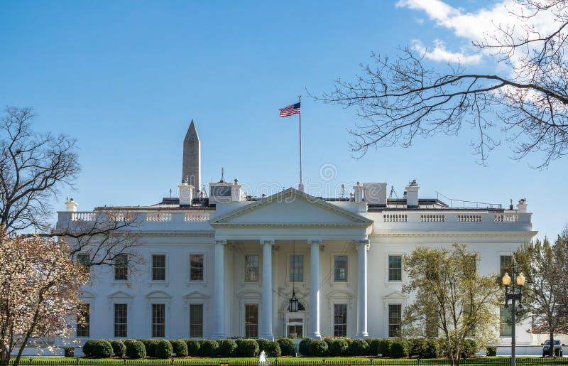 La Maison Blanche dans le C.C de Wahsington images stock