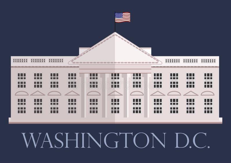 La Maison Blanche dans le Washington DC, vecteur illustration libre de droits