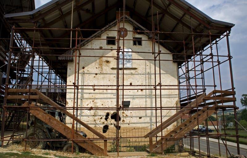 La maison d'Adem Jashari, Prekaz, Kosovo image stock