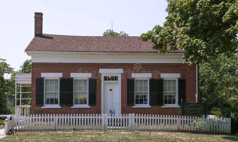La maison d'enfance de Thomas Edison photos stock