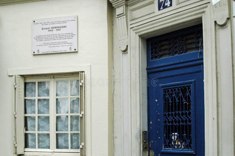 La maison d'Ernest Hemingway, Paris, France images libres de droits