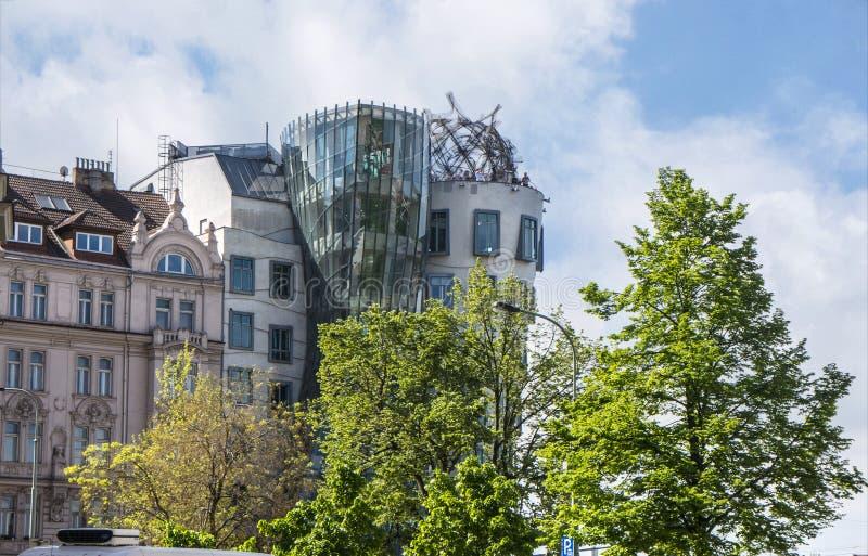 La maison de Fred et de gingembre ou de danse ? Prague dans la R?publique Tch?que photos stock