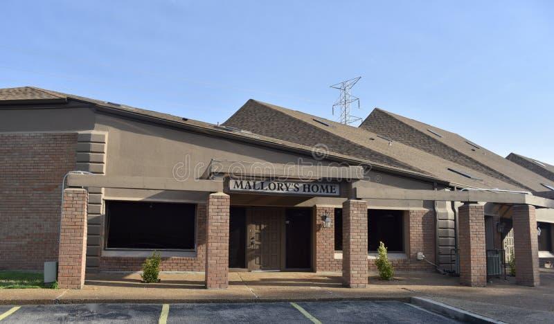 La maison de Mallory pour vieilli, Memphis, TN photographie stock libre de droits