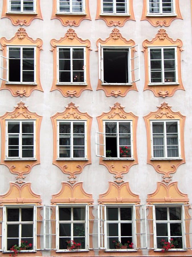 La maison de Mozart à Salzbourg images libres de droits