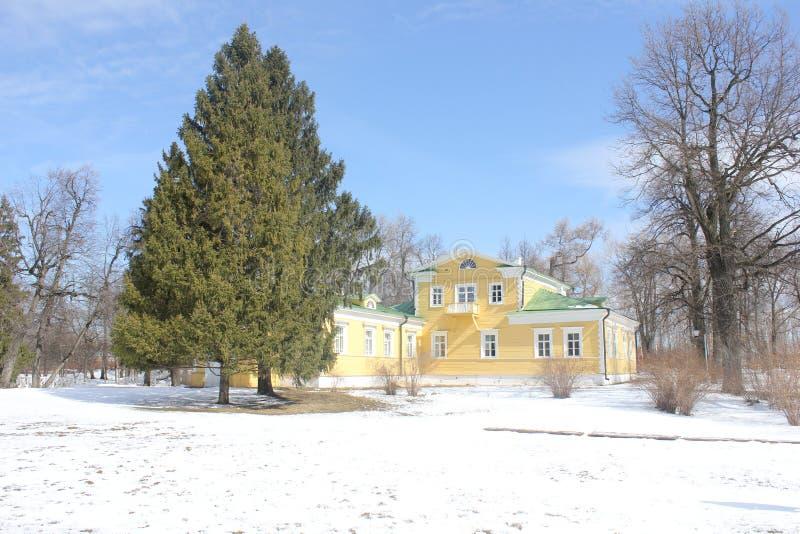 La maison de Pushkin images libres de droits