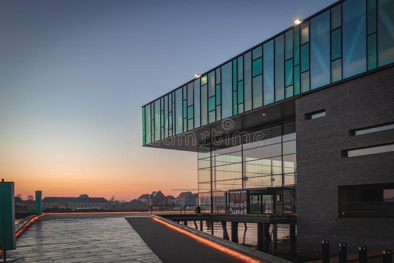 La maison de théâtre danoise royale à Copenhague photos libres de droits