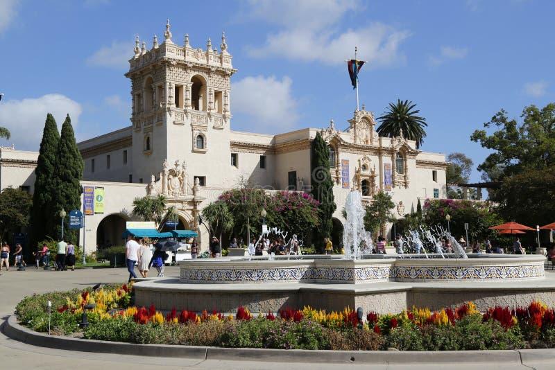 La maison Del Prado au parc de Balboa à San Diego photo stock