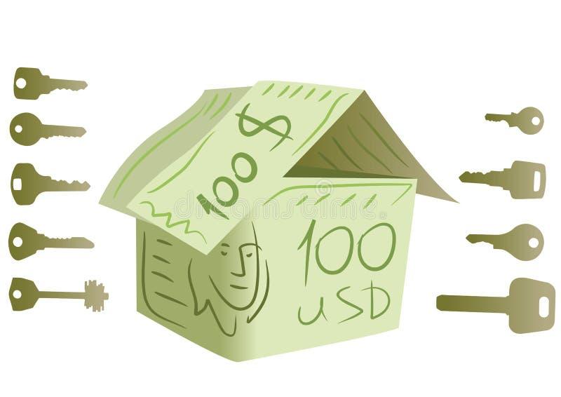 la maison du dollar introduit le vecteur illustration stock