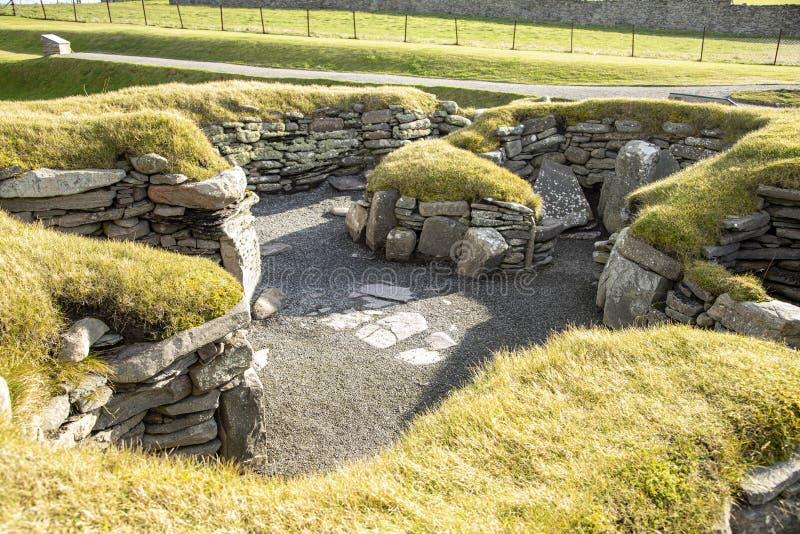 La maison du forgeron, Jarlshof, Shetland photos stock