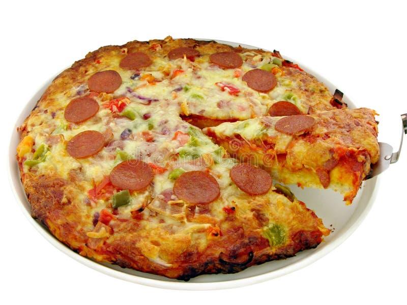 la maison a effectué la pizza photos stock