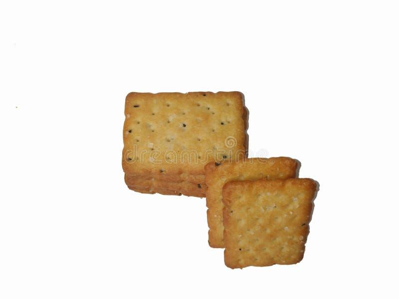 La maison a fait des biscuits d'isolement sur un fond blanc images libres de droits