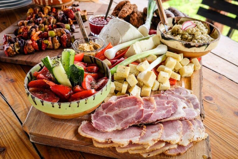 La maison a fait la nourriture de la Roumanie et du Moldau photographie stock