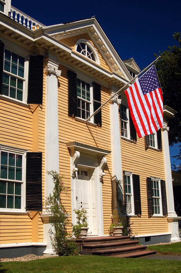 La maison historique de Longfellow image libre de droits