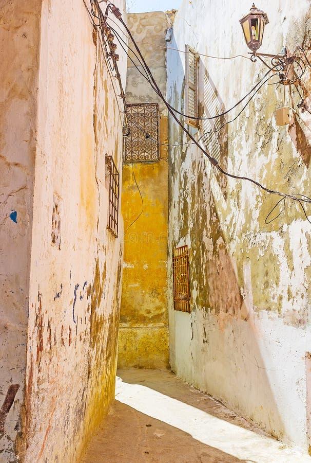 La maison penchée, Bizerte, Tunisie photos stock