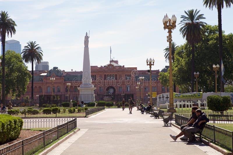 La maison Rosada à Plaza de Mayo, Buenos Aires, Argentine images stock