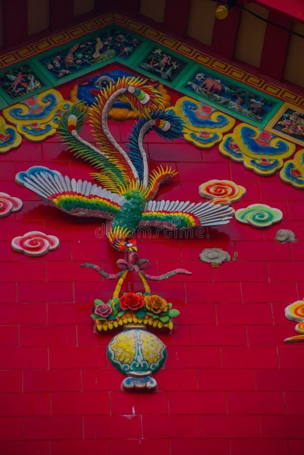 La maison sur la rue a peint des couleurs, graffiti multicolore Kuching sarawak borneo malaysia photographie stock