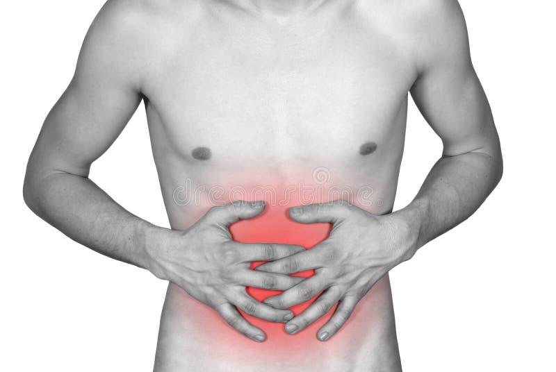 La maladie de l'estomac photos libres de droits