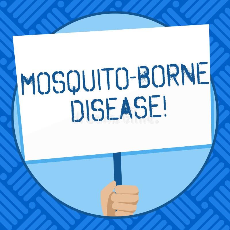La maladie soutenue par moustique d'apparence de signe des textes Les maladies conceptuelles de photo ont causé des parasites tr illustration libre de droits