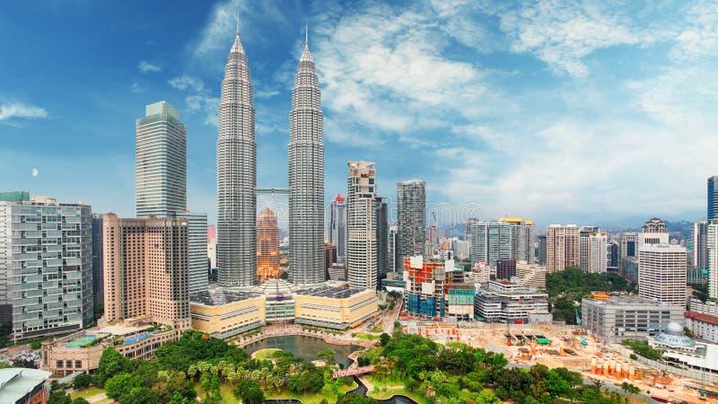 La Malesia, orizzonte di Kuala Lumpur fotografia stock