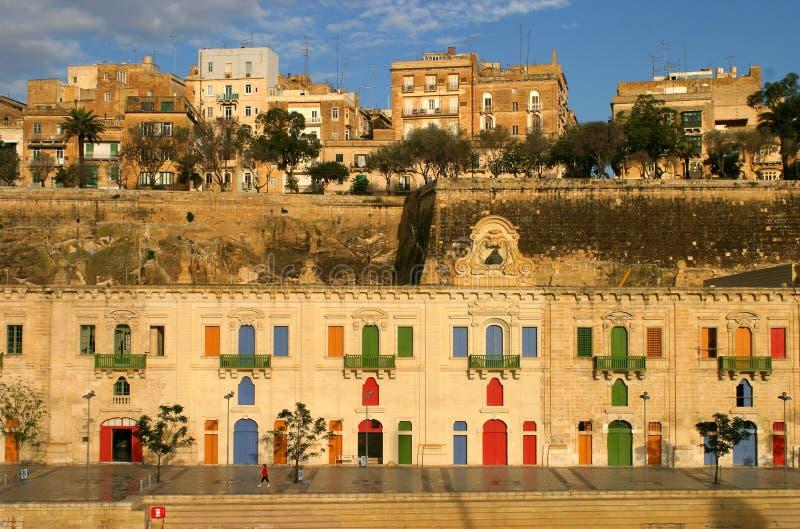 la malta valletta гавани стоковые фотографии rf