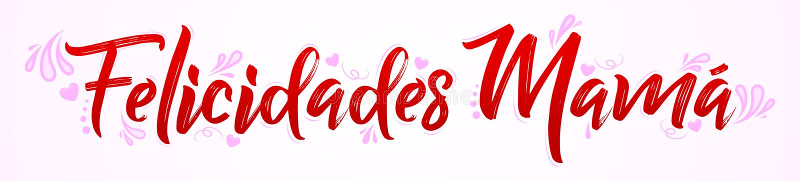 La mamma di Felicidades, congratulazioni genera il testo spagnolo illustrazione di stock