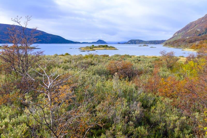 La Manche de briquet dans le Patagonia images stock
