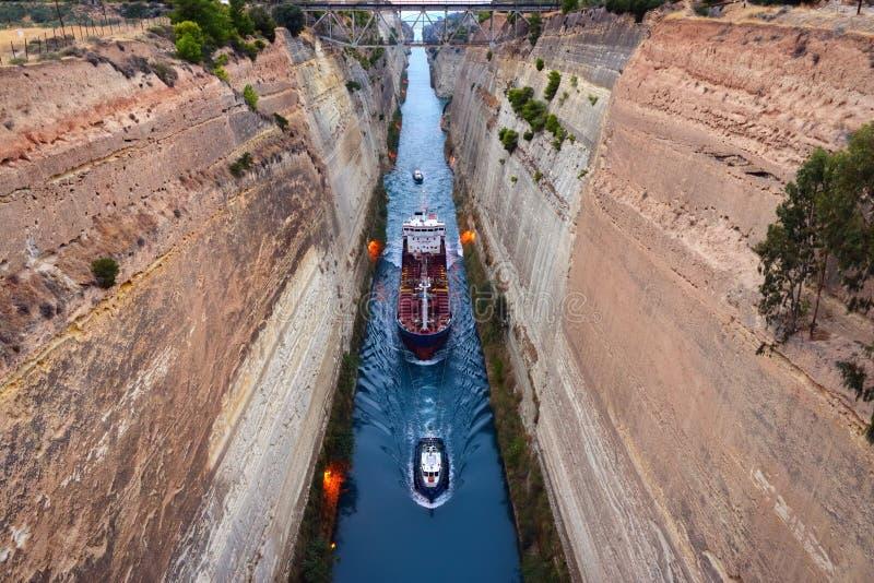 La Manche de Corinthe photographie stock