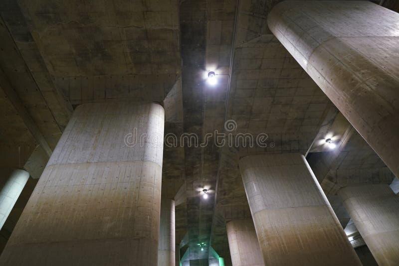 La Manche de décharge souterraine externe de zone métropolitaine photos stock
