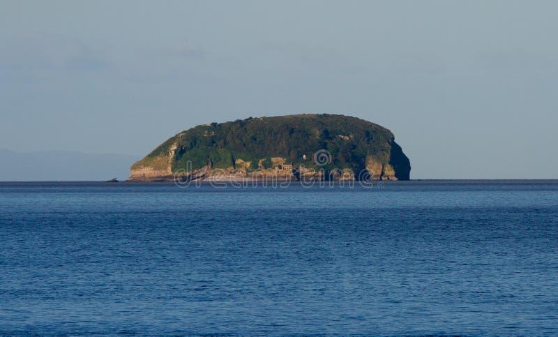 La Manche escarpée Somerset de Bristol d'île de Holm images libres de droits
