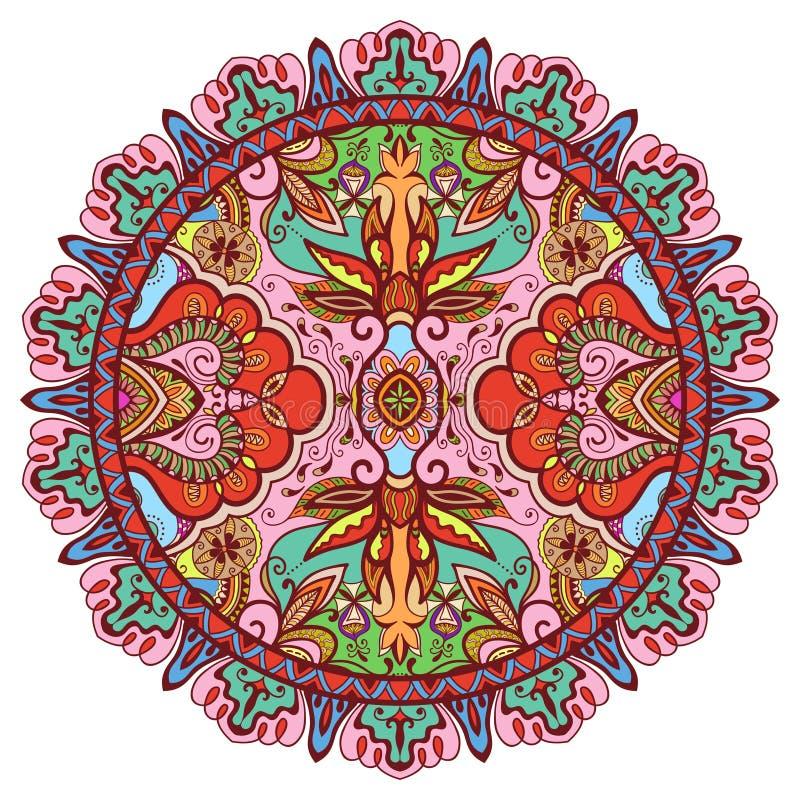 La mandala, ornamento étnico tribal, vector islámico imagenes de archivo