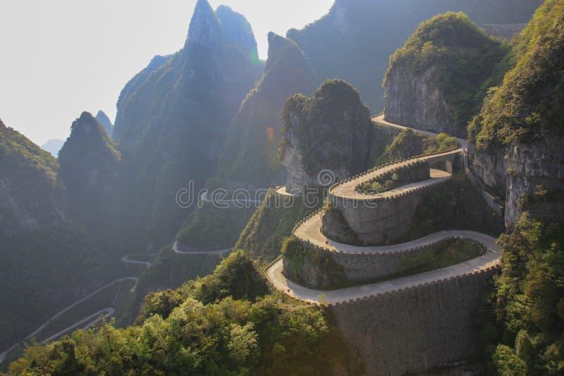 La manera de alcanzar una puerta del cielo en Zhangjiajie fotografía de archivo