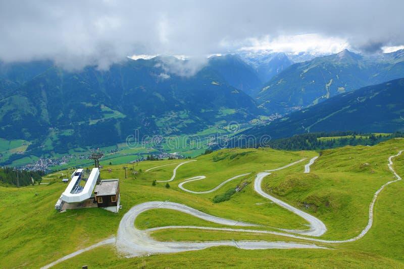 La manera de Fulseck a Dorfgastein, Austria imagen de archivo