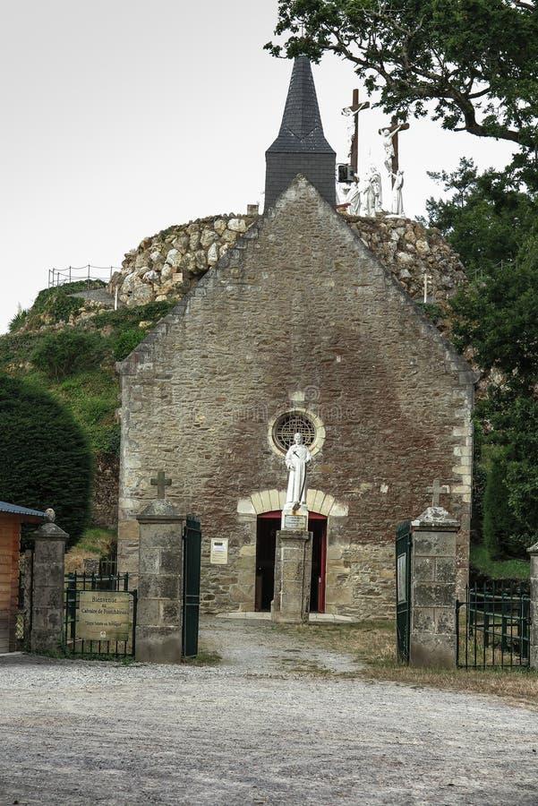 La manera de la cruz y del Calvary construyó hace años por St Louis Monfor imágenes de archivo libres de regalías