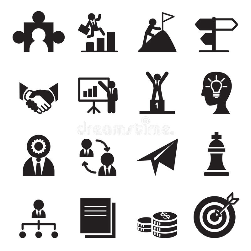 La manera a los iconos del éxito fijados libre illustration