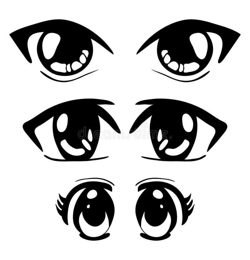 La manga osserva la progettazione dell'icona di simbolo di vettore Bello iso dell'illustrazione royalty illustrazione gratis