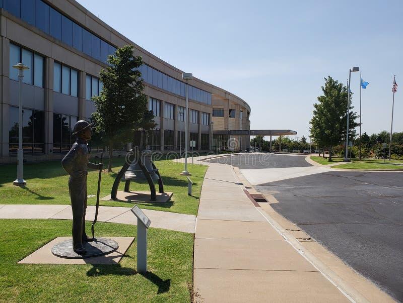 La manière au centre Etats-Unis d'histoire de l'Oklahoma photos stock