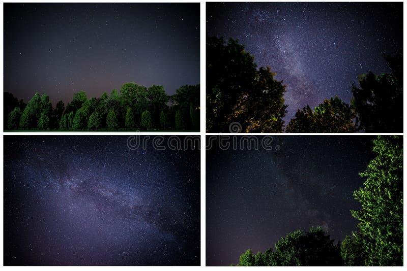 La manière laiteuse est notre galaxie Cette photographie astronomique de longue exposition de la nébuleuse photo libre de droits