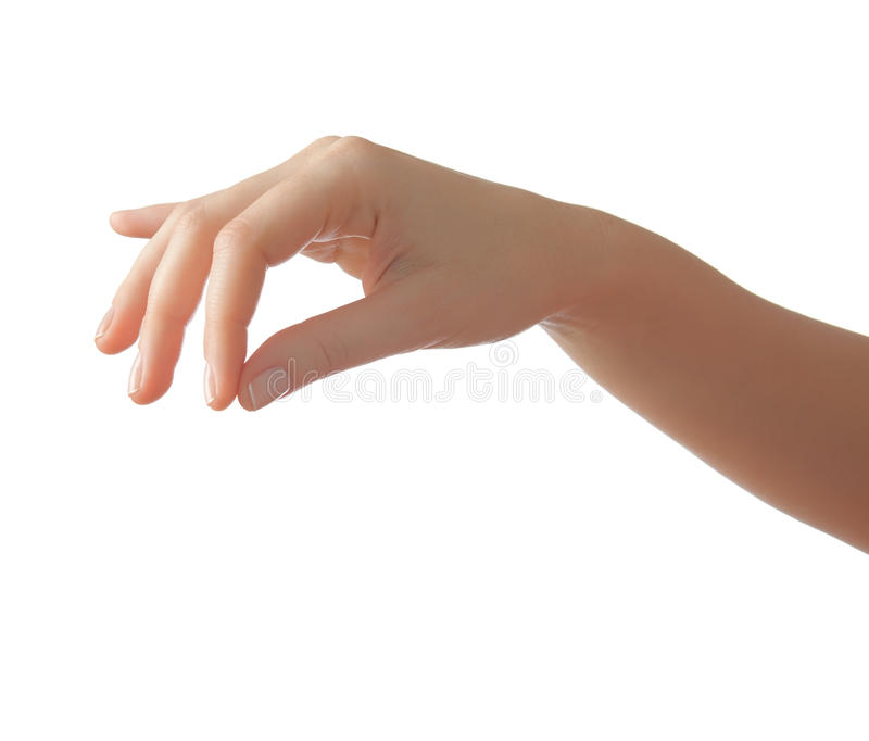 La mano foto de archivo