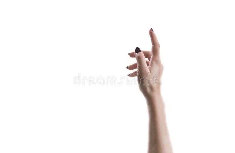 La mano allunga verso l'alto fotografie stock libere da diritti