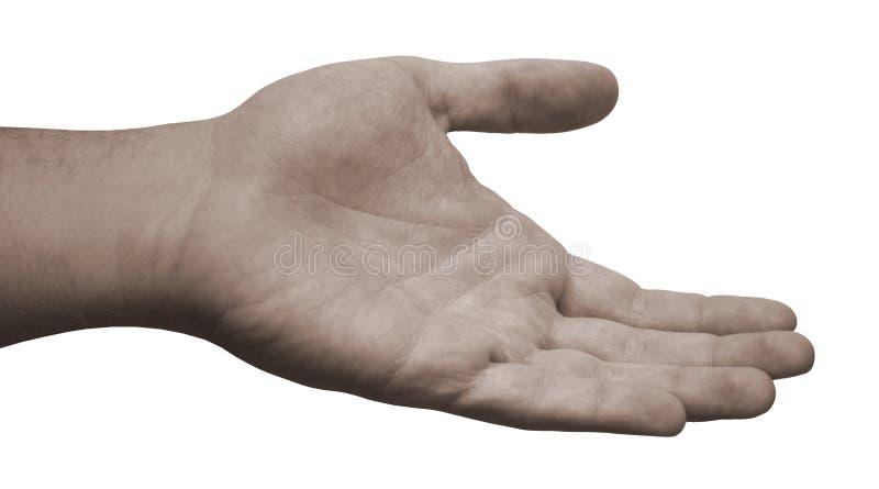 La mano amica raggiunge fuori fotografia stock libera da diritti