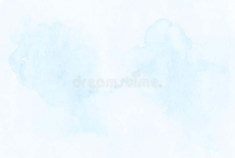 La mano blanco-azul abstracta pinta backgrou mojado colorido de la acuarela libre illustration